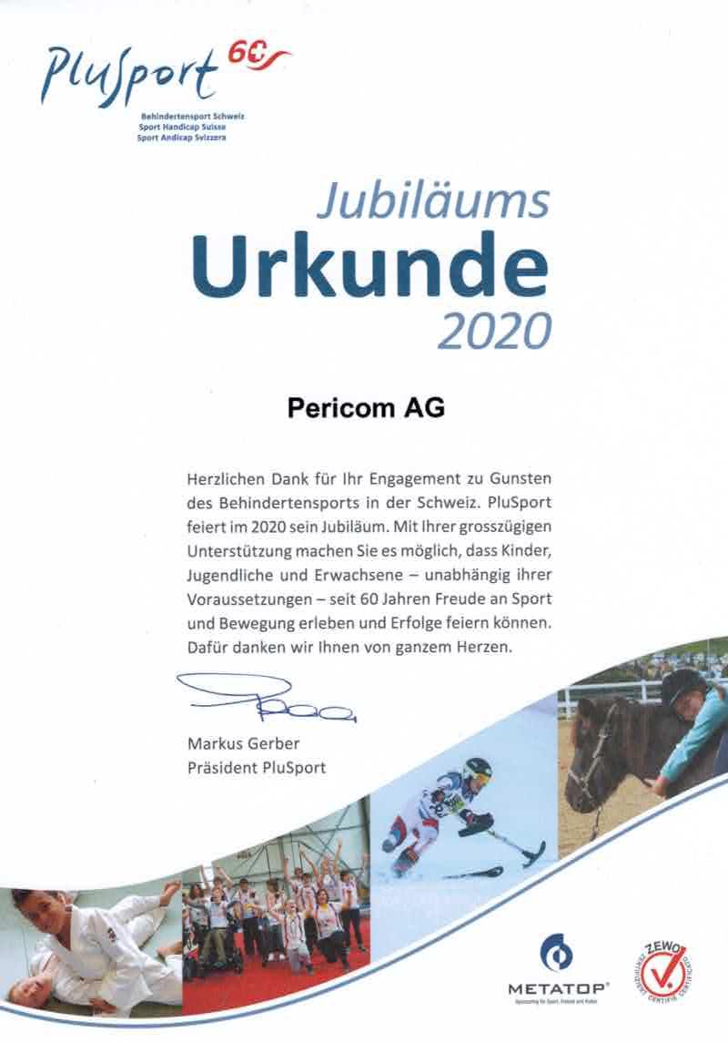 Urkunde Plus Sport 2020